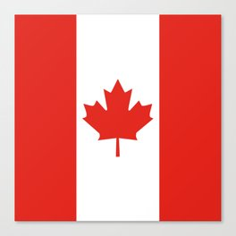 Red and White Canadian Flag Canvas Print