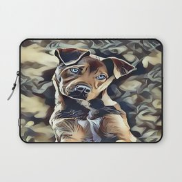 The Blue Eyed Pit bull Puppy Laptop Sleeve