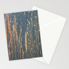 Ombre 514 - Abstract Splatter in Orange, Gray, Yellow Stationery Cards