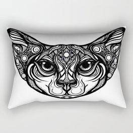 Tribal Cat Rectangular Pillow