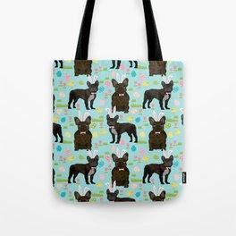 French Bulldog brindle coat easter spring dog costume custom pet portraits Tote Bag