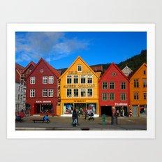 Bergen, Norway Old Town Art Print