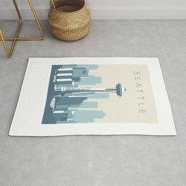 Seattle Cityscape Rug