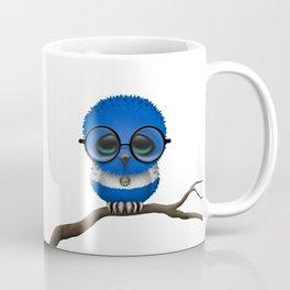 Baby Owl with Glasses and Salvadorian Flag Coffee Mug