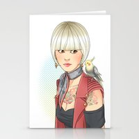 birdy Stationery Cards featuring Birdy by Lotty