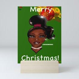 Merry Christmas Greeting Card Theme Mini Art Print