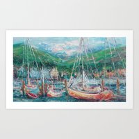 murray Art Prints featuring Murray Docks by Ann Marie Coolick