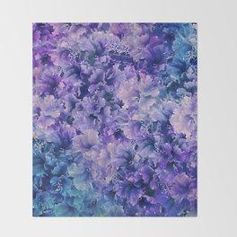 Hibiscus Flower Pattern Throw Blanket