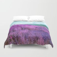 Wild Sunflowers by the Road Duvet Cover