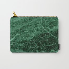 Dark emerald marble texture Carry-All Pouch