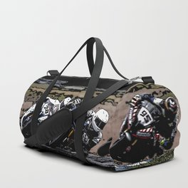 Art of motorbike racing Duffle Bag