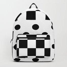CHESS & POLKA DOT (BLACK-WHITE) Backpack