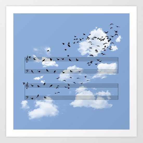Musical Notes Art Print