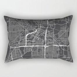 Akron Map, USA - Gray Rectangular Pillow