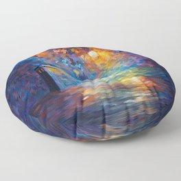 Tardis Doctor Who Rainbow Abstract Floor Pillow