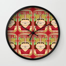 American Football Red and Gold - Hail-Mary Blitzsacker - June version Wall Clock