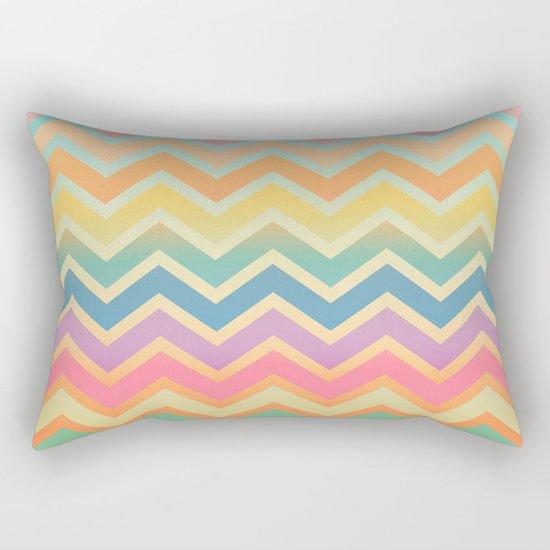 Summer-color Chevron Rectangular Pillow