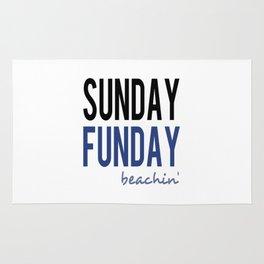 Sunday Funday Beachin' Rug