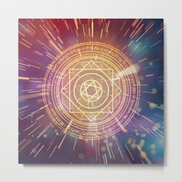Strange Magic Mandala 1 Metal Print