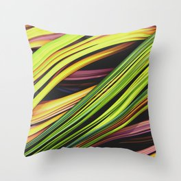 Stranded Strain. 3D Abstract Art Throw Pillow