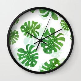 Tropical Vibes Collection: Monstera deliciosa II Wall Clock