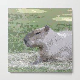 capybara Poster Metal Print