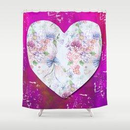 Flower Heart Shower Curtain