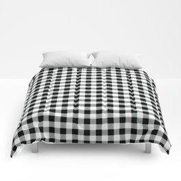 Modern black white picnic 80s print pattern Comforters