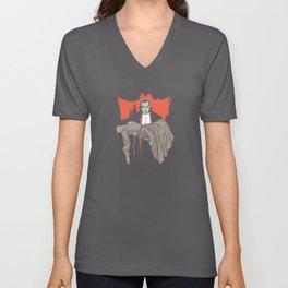 Dracula and Woman Classic Horror Design Unisex V-Neck