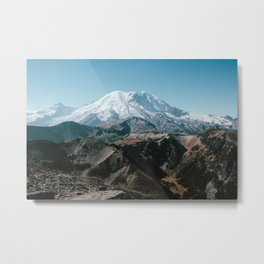 Rainier From Fremont Metal Print