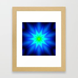 Star Bright Blue & green Framed Art Print