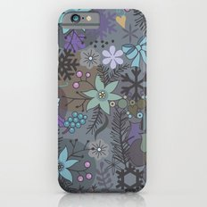 Colorful grey xmas pattern iPhone 6s Slim Case