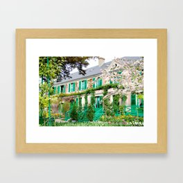 Claude Monet's Garden and Home Framed Art Print