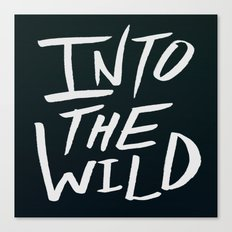 Into the Wild x BW Canvas Print