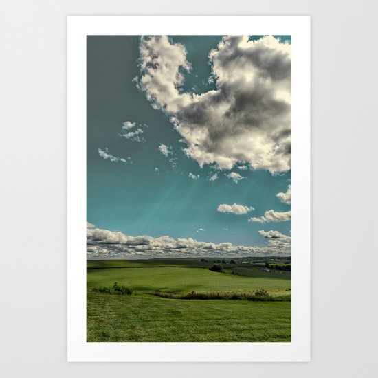 Summer sky's in the heartland Art Print