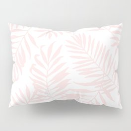Tropical Palm Leaves - Pink Pillow Sham