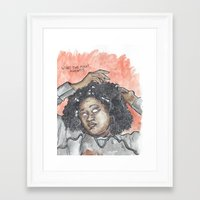 oitnb Framed Art Prints featuring Taystee OITNB by Ashley Rowe