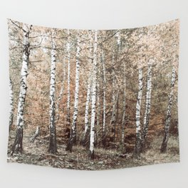 birch forest Wall Tapestry