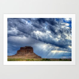 Butte of Chaco Canyon Art Print