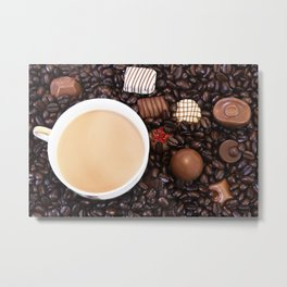 Coffee And Chocolate Delight Metal Print