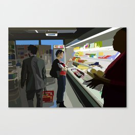 People of the Economat Canvas Print