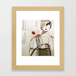 Sepia Girl Framed Art Print