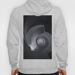 Modern spiral staircase in blue and grey tones Hoody