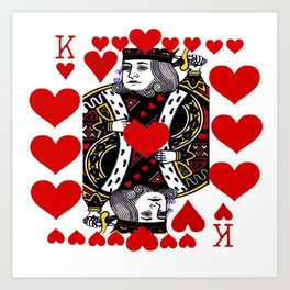 RED KING OF HEARTS FROM SOCIETY6 Art Print