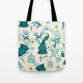 Aviary - Cream Tote Bag