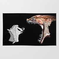monster Area & Throw Rugs featuring Monster by AkuMimpi