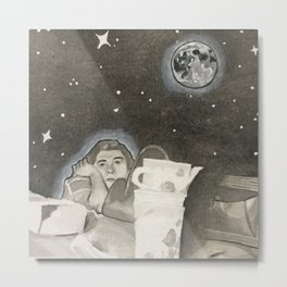 moon woman Metal Print