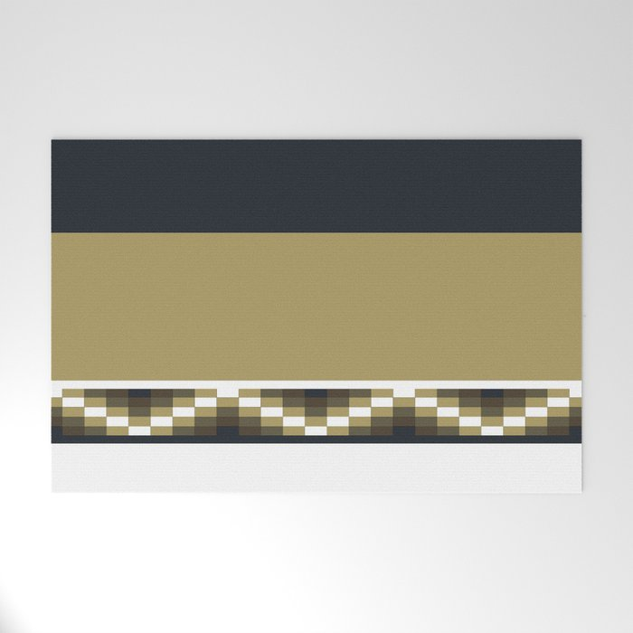 Block Wave Illustration 2 Thick Bold Horizontal Lines Digital Artwork Welcome Mat