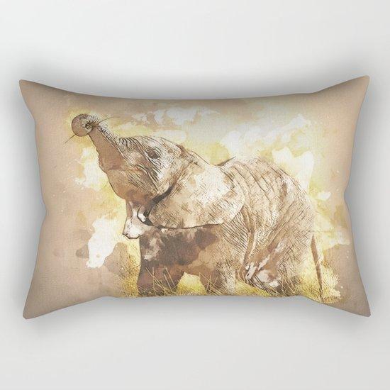 Elephant - It's Tea Time! Rectangular Pillow
