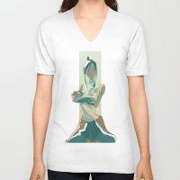 korra V-neck T-shirts featuring Korra by OliLai